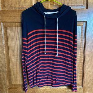 J Crew lightweight medium striped sweatshirt